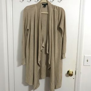 WHBM gold long sleeve cardigan